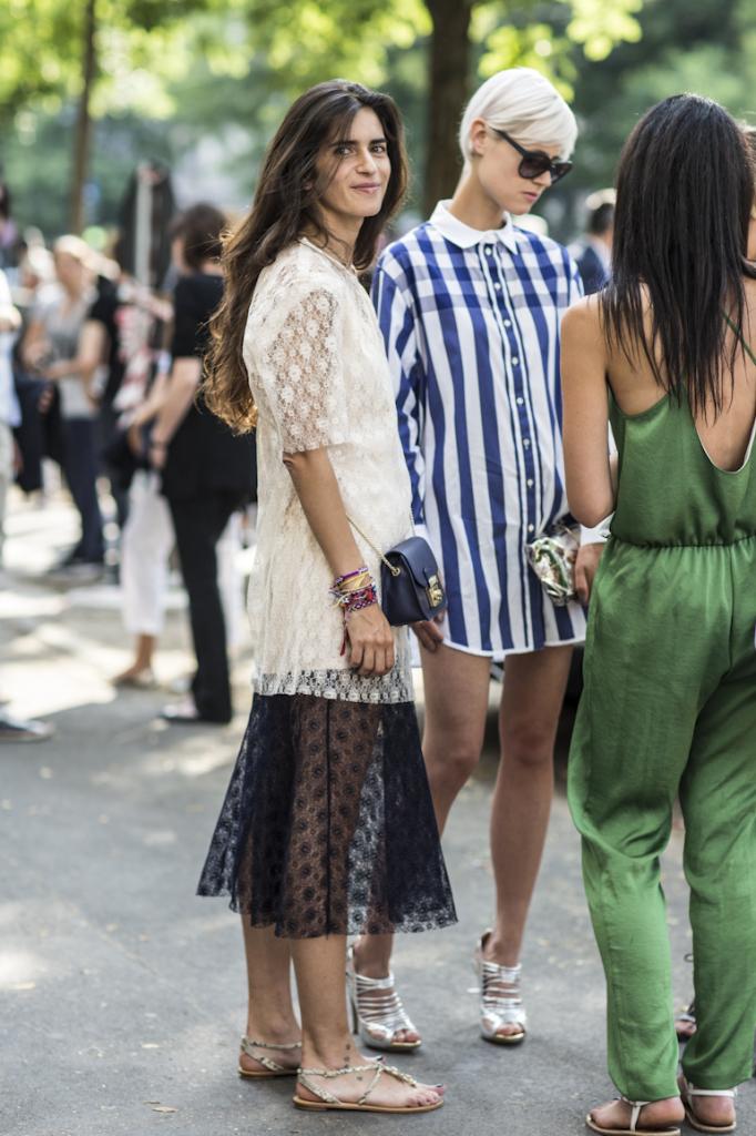 Milano Moda uomo 2014, women, Chiara Totire, Stella McCartney lace dress