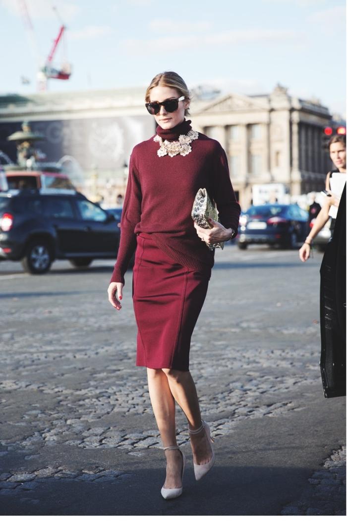 Paris_Fashion_Week_Spring_Summer_15-PFW-Street_Style-Olivia_Palermo-Nina_ricci-Burgundy-Pencil_Skirt-8