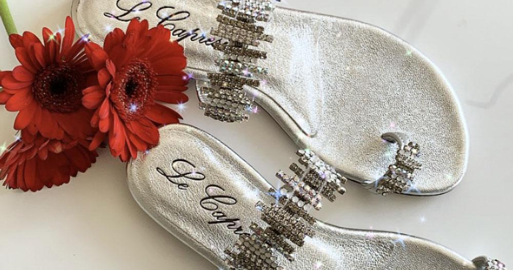 sandali colorati argento